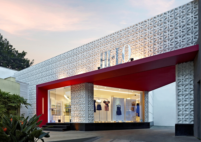 Loja hi lo david guerra arquitetura e interior for Retail shop exterior design