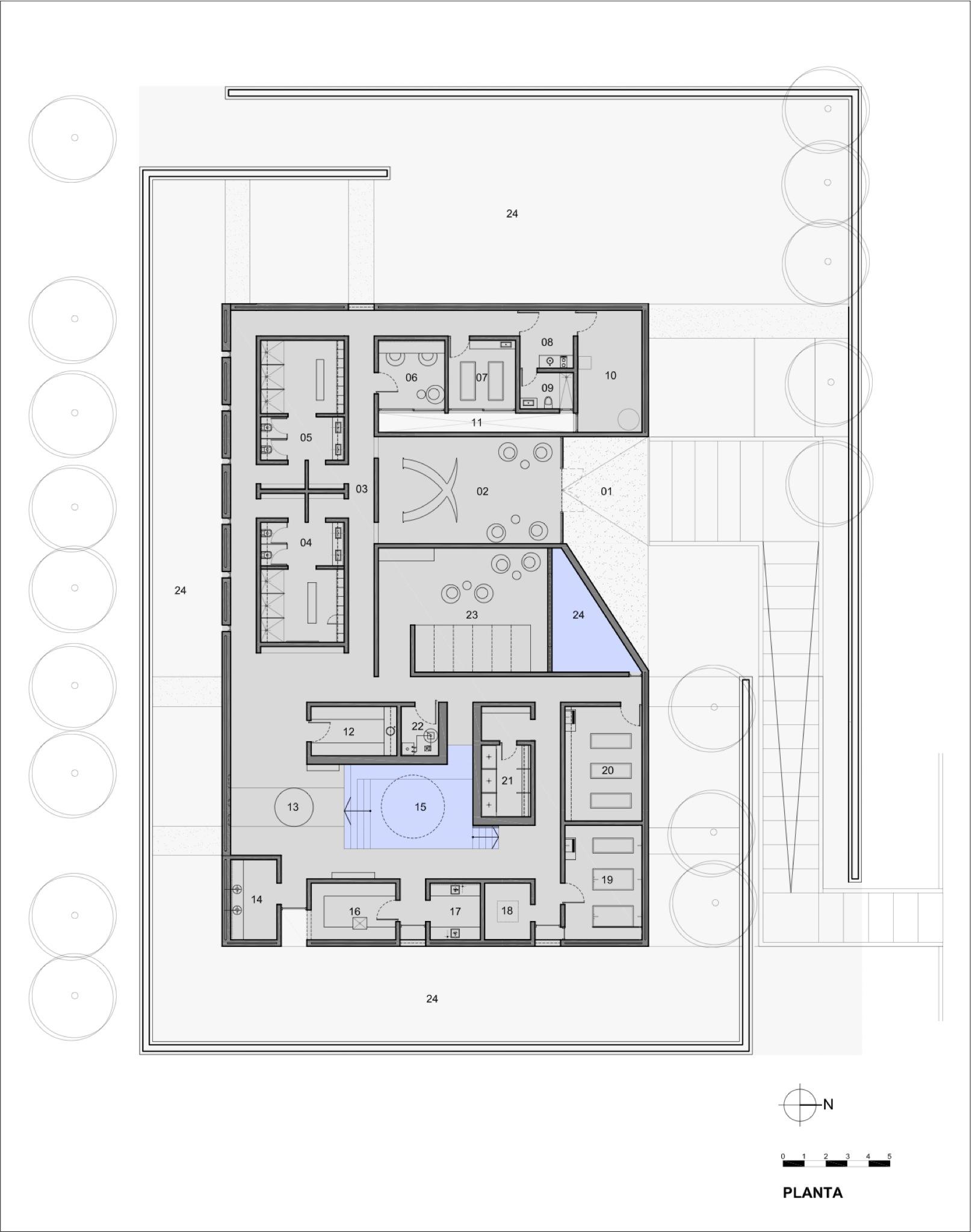 Galeria de entre cielos hotel spa a4 estudio 59 for Plantas salon