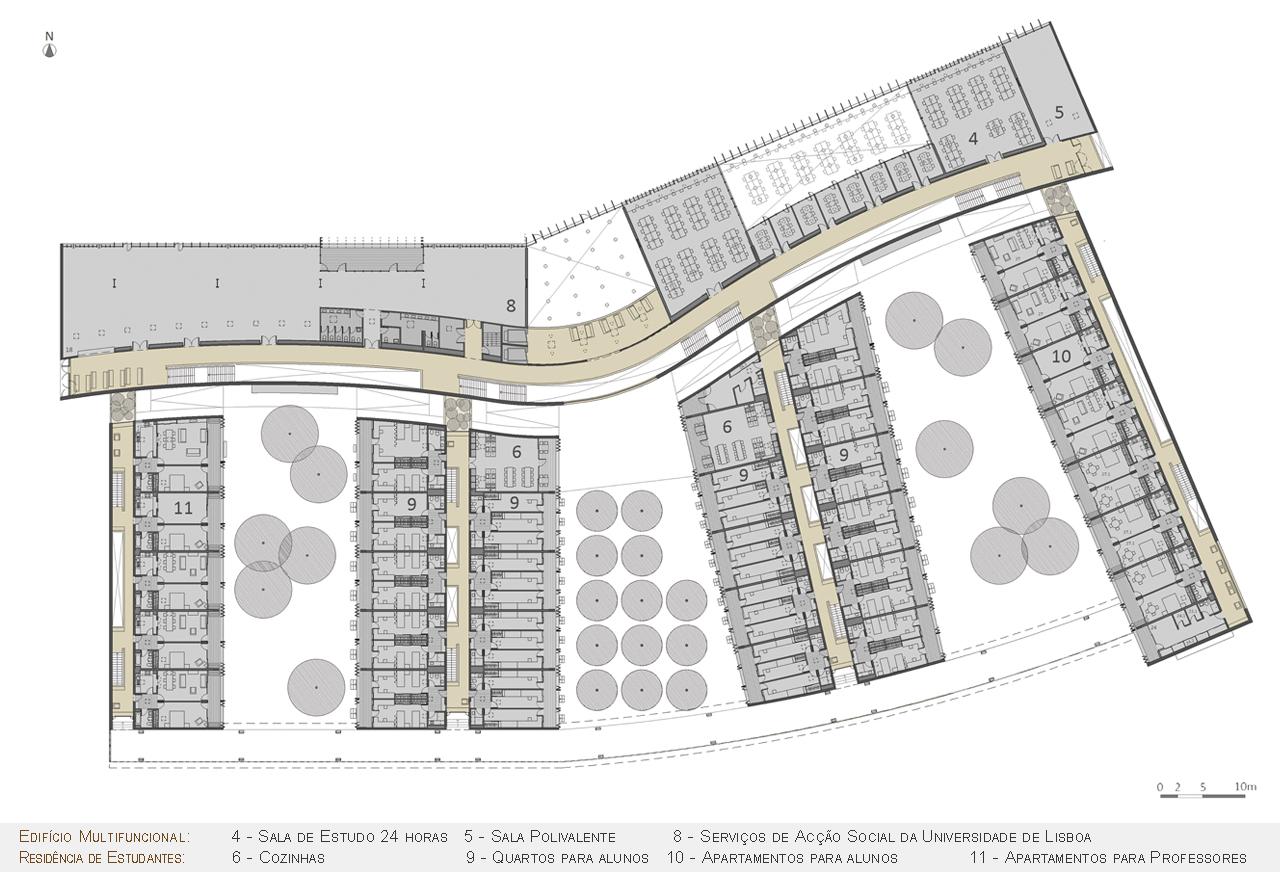 Galeria de pr mio secil universidades arquitetura for Plantas de colegios arquitectura