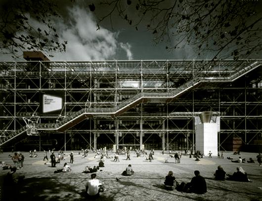 Clássicos da Arquitetura: Centro Georges Pompidou / Renzo Piano + Richard Rogers, © conservapedia.com