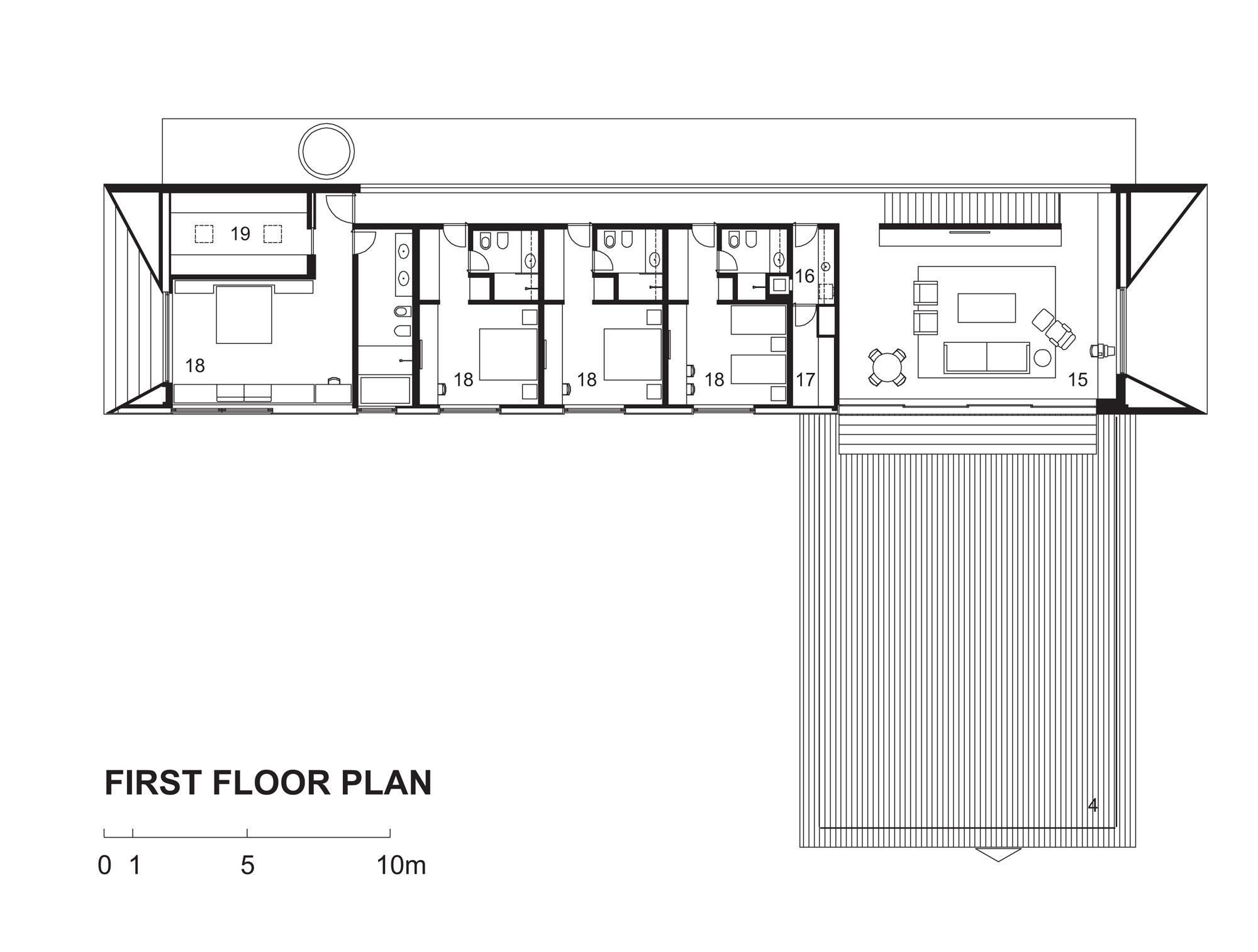 Galeria de casa piracicaba isay weinfeld 15 for Modern house 2d plans