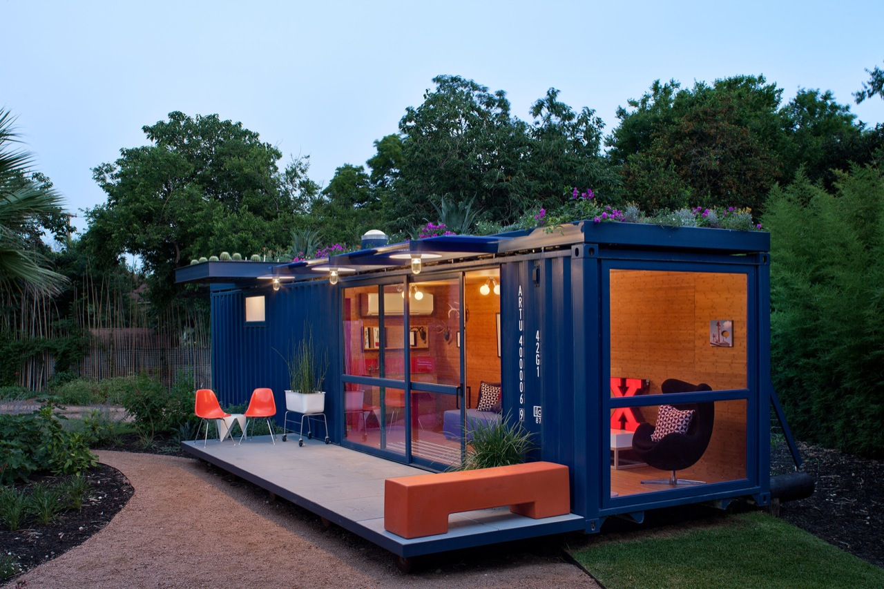 Galeria De Container Guest House Poteet Architects 12