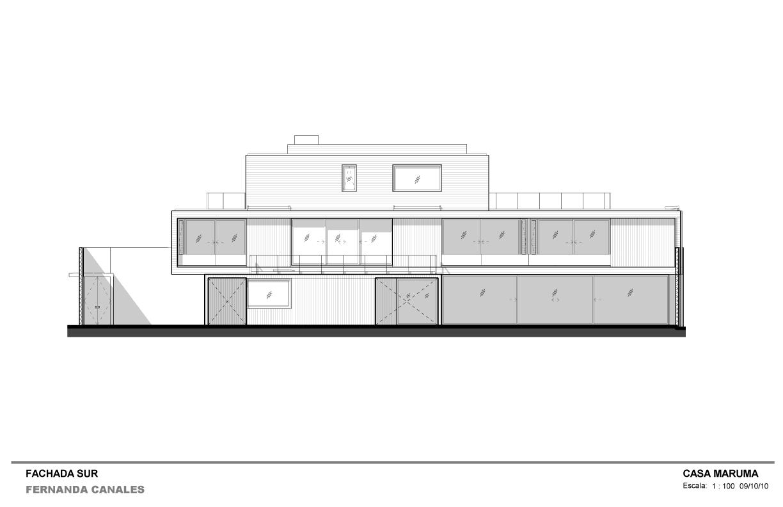 Galeria de casa maruma fernanda canales 26 for Fachada casa 2 plantas