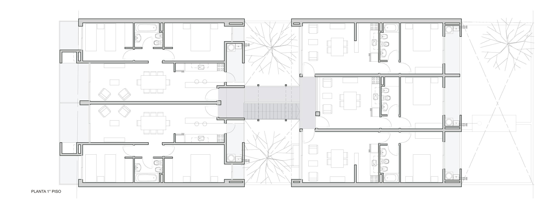 Galeria de edif cio em calle lavalle biagioni pecorari for Planos de departamentos de 40m2