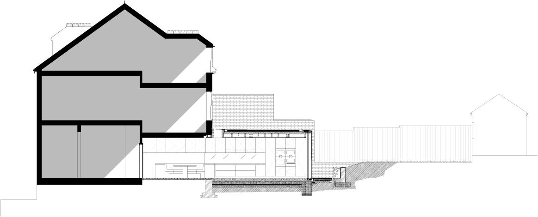 Galeria De Rear House Extension Garden Design LBMV