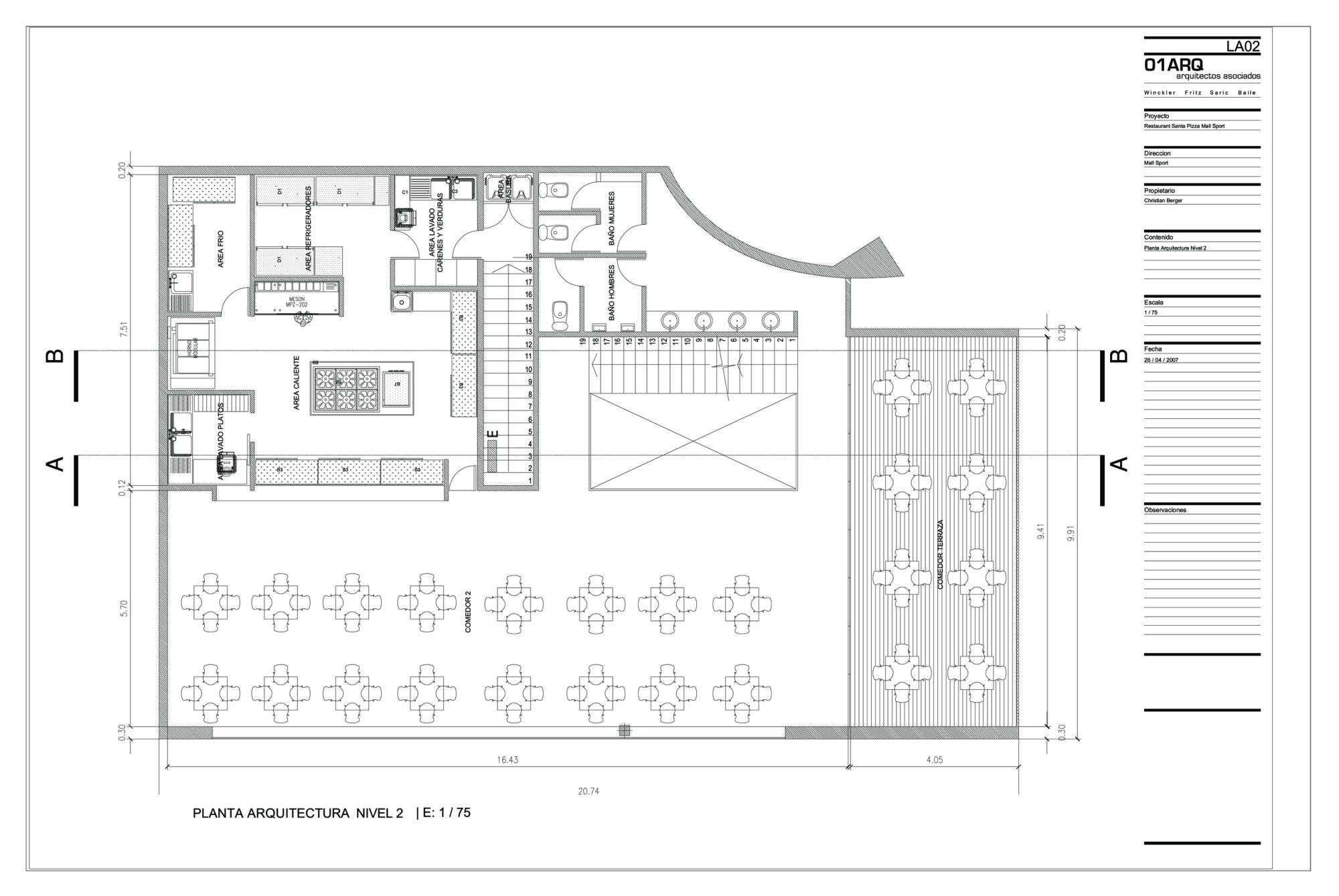 Galeria de shopping esportivo santa pizza 01arq 18 for Planta arquitectonica pdf