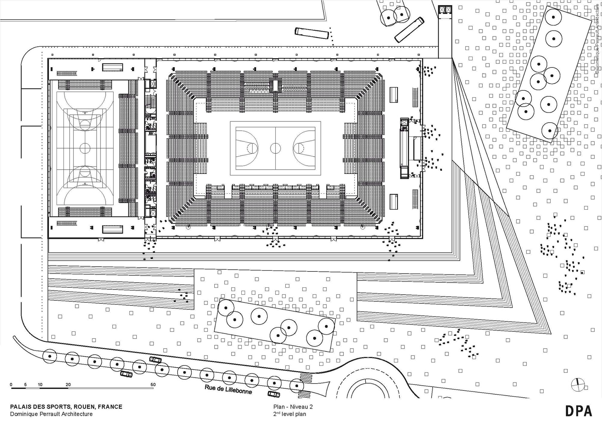 palais des sports de rouen dominique perrault architecture arquibancada pinterest. Black Bedroom Furniture Sets. Home Design Ideas